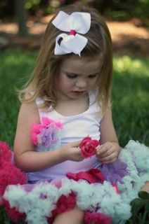 Baby Girl Boutique clothing 2nd Birthday Girl flower girl rainbow