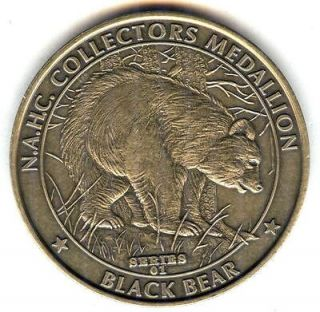 C3752 NORTH AMERICAN HUNTING CLUB BRONZE MEDAL, BLACK BEAR