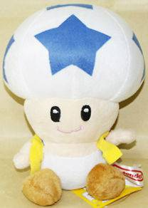 BLUE STAR TOAD 6 (15CM) SUPER MARIO BROS PLUSH TOY DOLL