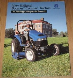 New Holland Boomer Compact Tractors Sales Brochure
