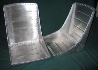 Pair of WWII style bomber seats SCTA HOT ROD 32 Ford
