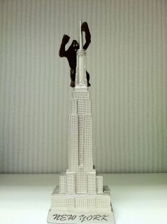 Empire State Building Statue Figurine with King Kong, 8 inches, New