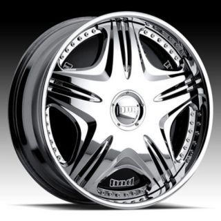 24 DUB SPIN Mamba Wheel SET Chrome 24x9 Spinner RIMS RWD 5 & 6 LUG