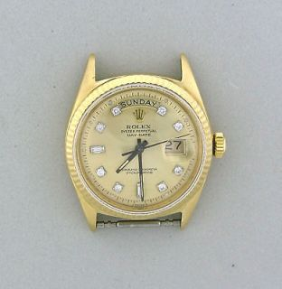 Vintage Mens Rolex President Day Date 18k Gold Watch Ref 1803