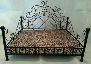 Bed  Metal frame bed with Leopard print mattress dogs/cats/pets