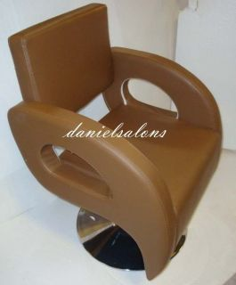 BRAND NEW BROWN STYLING BARBER CHAIR SALON BEAUTY HAIR EQUIPMENT