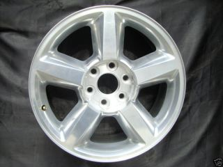 20 INCH CHEVROLET SILVERADO TAHOE SUBURBAN FACTORY POLISHED WHEEL
