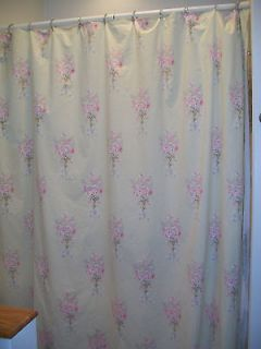 Shabby Chic Rachel Ashwell Light Green with Rose Floral Shower Curtain