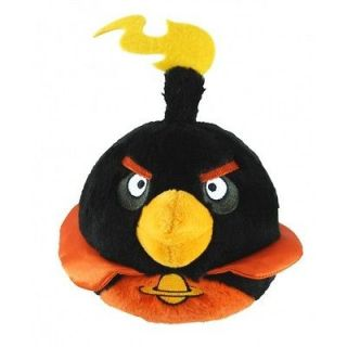 ANGRY BIRDS SPACE PLUSH Black Fire Bomb Bird   LICENSED 5 New With