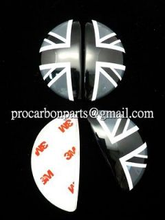 Mini Cooper Countryman R60 SD S Aluminum Door Emblem~Black Union Jack