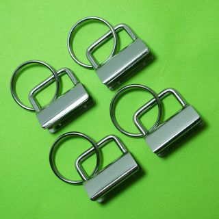 Key Fob Hardware with Ring   1 Inch Wide   Choose Your Quantity   Free
