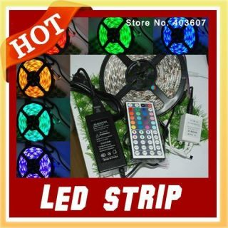 Led Strip RGB SMD 5050 Led Flexible Strip+12V 5A Power Supply+44keys