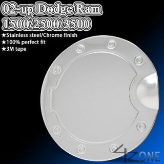 DODGE RAM 1500 2500 3500 FUEL GAS TANK DOOR COVER CAP TRIM STAINLESS