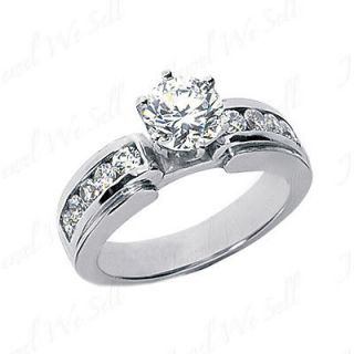 06 Ct Round Diamond Engagement Ring Gold Plated H SI2