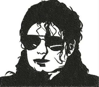 MICHAEL JACKSON silhouettes 15 MACHINE EMBROIDERY DESIGNS 4 INCH