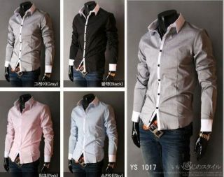 2012 Fashion Mens Luxury Stylish Casual Dress Slim Fit Shirts 5