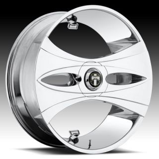 32 DUB SPIN Markee Wheel SET Chrome Spinner 32x10 RWD 5 & 6 LUG RIMS