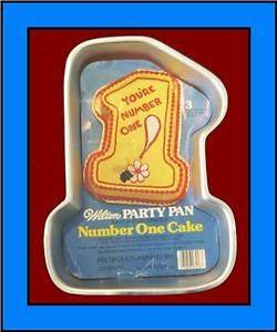 Wilton ***NUMBER ONE*** 1979 Cake Pan with INSERT