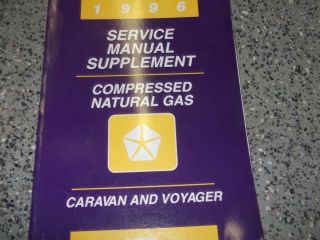 1996 96 DODGE CARAVAN MINI VAN Service Shop Repair Manual SUPPLEMENT
