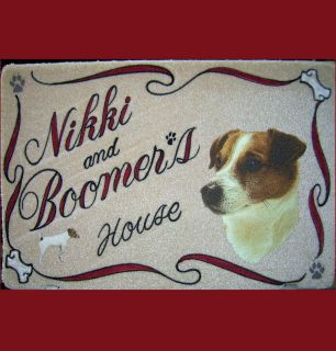 RUSSELL TERRIER,dog door mat,personaliz​ed,dog breeds,pets,ak​c