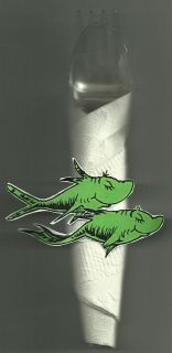 Dr. Seuss   One Fish, Two Fish   Napkin Ring Wraps   Birthday Party