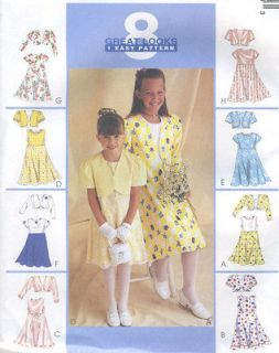 Lined Bolero Jacket Dress Sewing Pattern Sheer Overskirt Easy 9186