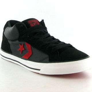 High Top Run Pro 2 Mid Black Red Mens Skate Shoes Sizes UK 8   12