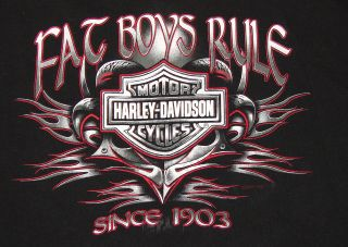 Harley Davidson Motorcycles FAT BOYS RULE T Shirt L Large, Vancouver