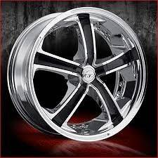 18 inch VCT Massino chrome wheels Rims 5x110 +40