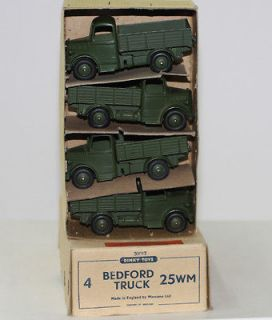 MILITARY DINKY TOYS 25WM BEDFORD TRUCK RARE US EXPORT TRADE BOX 4