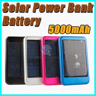 5000mAh Mobile Solar Power External Battery Charger for Cell Phone