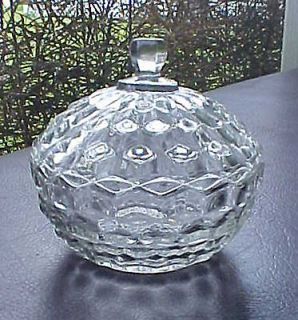 Fostoria AMERICAN Elegant Depression Era Crystal Glass Covered Candy