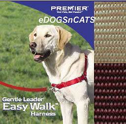 GENTLE LEADER EASY WALK HARNESS DOG FAWN BROWN MEDIUM