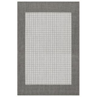 Couristan Recife Checkered Field Grey/White Rug   1005/3012