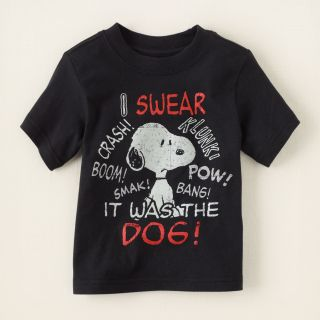 baby boy   Snoopy graphic tee  Childrens Clothing  Kids Clothes