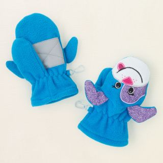 baby girl   fleece dog mittens  Childrens Clothing  Kids Clothes