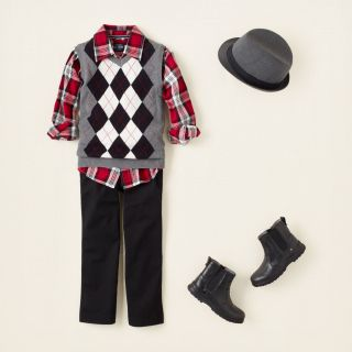 boy   outfits   check the halls  Childrens Clothing  Kids Clothes