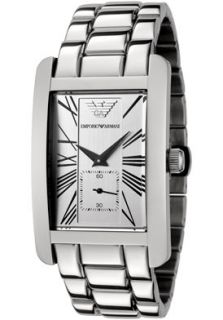 Emporio Armani AR0145 Watches,Mens Classic Silver Dial Stainless