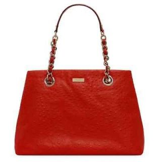 NWT Kate Spade Victoria Falls Maryanne Ostrich Embossed Tote, Spice