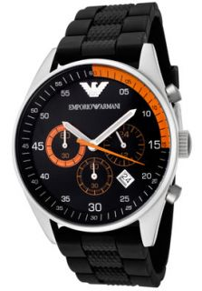 Emporio Armani AR5878 Watches,Mens Chronograph Black Rubber, Mens