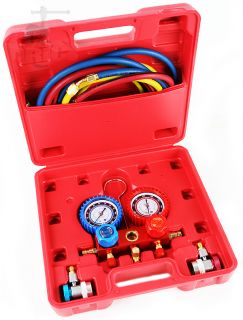 HVAC A/C Refrigeration Kit AC Manifold Gauge Set R22 / R404A / R134A