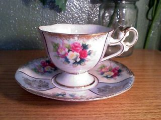 Royal Halsey Very Fine China Cup & Saucer Set  IN USA