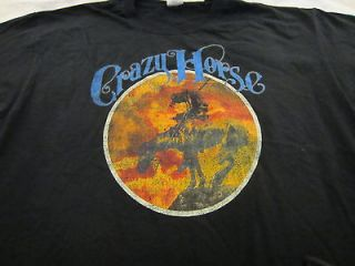 NEIL YOUNG CRAZY HORSE SHIRT size MEDIUM VINTAGE 100% OFFICIAL NEW