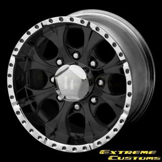 16 x10 Helo HE791 Maxx Gloss Black And Machined 8 Lugs Wheels Rims