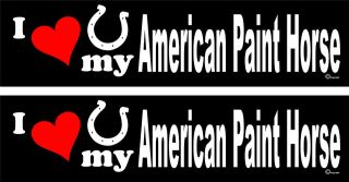 love my American Paint Horse trailer bumper stickers LARGE 3.0