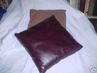 NEW GENUINE LEATHER PILLOWS  18   CHOICE OF COLORS