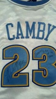 MARCUS CAMBY signed autographed Denver Nuggets Jersey Defensive POY