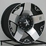 XD Rockstar Wheels Rims Chevy Truck C10 Jeep Wrangler JK 5x5 SET