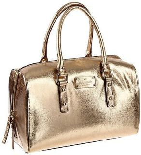 Kate Spade Flicker Melinda Metallic Leather Gold Purse Shoulder Bag