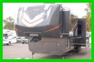 2013 Keystone RAPTOR 410LEV Triple Slide Toy Hauler Fifth Wheel Full